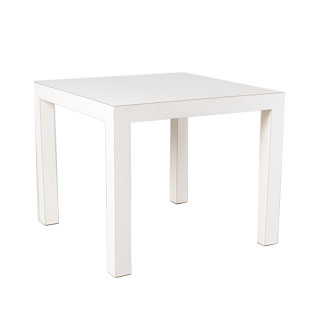 "36""w x 36""d White Laminate Café Desk TBL011465"