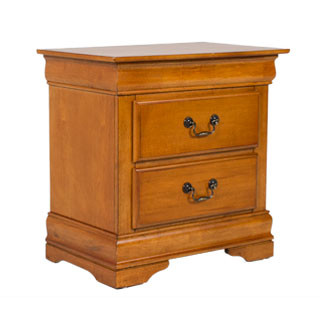 "26""w x 16.5""d Medium Oak Nightstand TBL011696"