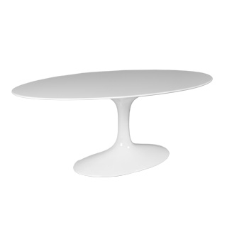 "78""w x 48""d White Oval Saarinen Table TBL012935"