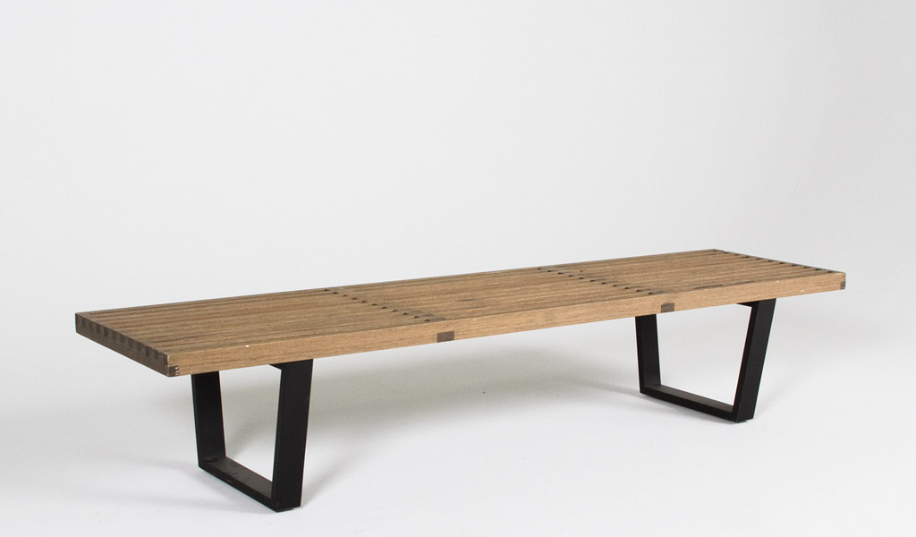 72''w x 18.5''d Grey Stained Wood Nelson Bench BEN007289