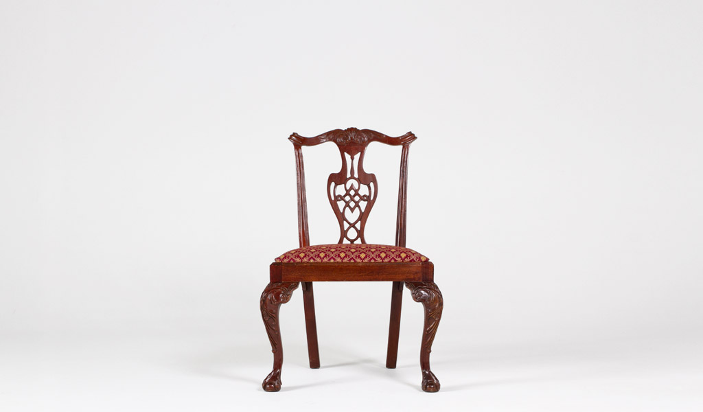 Mahogany Chippendale Side Chair CHR000563