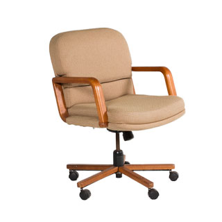 Tan Fabric Mid-Back Office Chair CHR000708