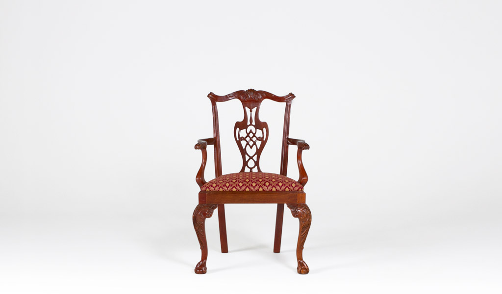 Mahogany Chippendale Guest Chair CHR000826