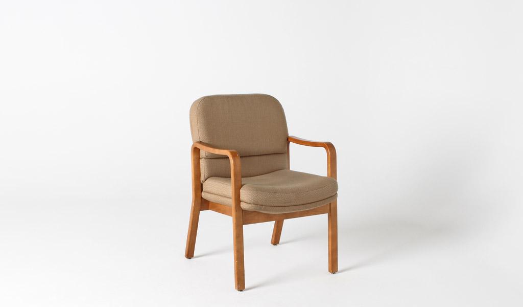 Tan Fabric Guest Arm Chair CHR000881