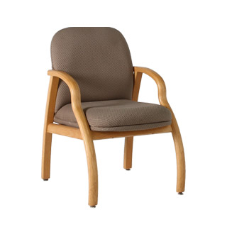 Taupe Fabric Guest Chair CHR000889
