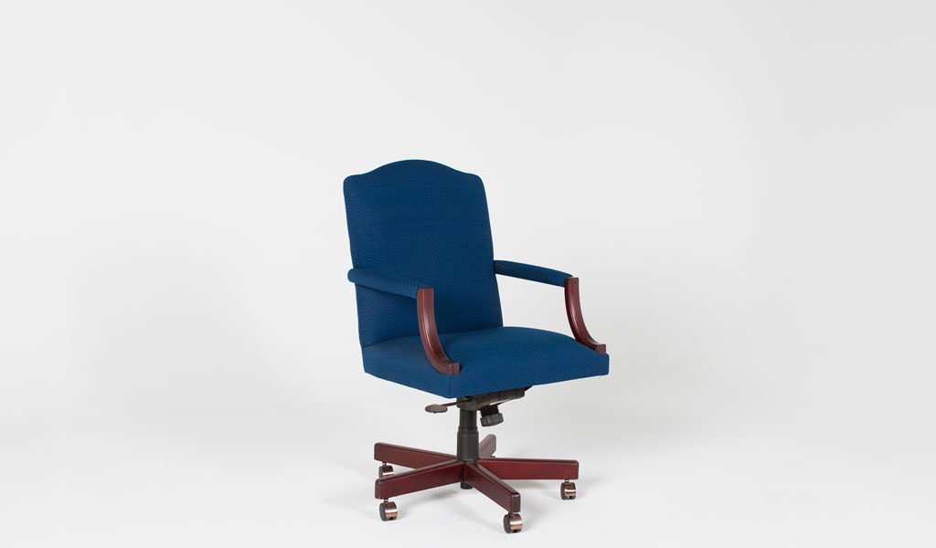 Royal Blue Fabric Executive Mid-Back Swivel Chair CHR003542
