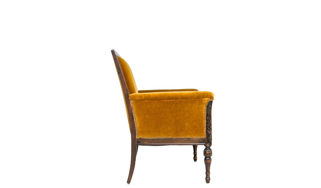 Golden Olive Mohair Club Chair CHR009279