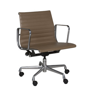 Tan Leather Eames Mid-Back Office Chair CHR009588