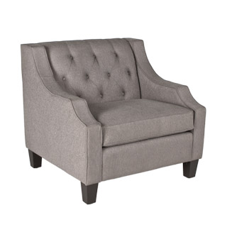 Smoke Grey Fabric Club Chair CHR012048