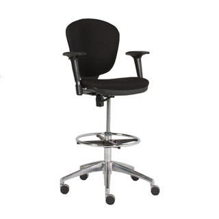 Black Fabric Drafting Chair CHR012851