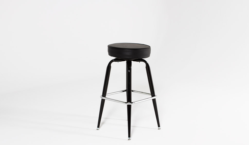 Black Metal Stool CHR013012