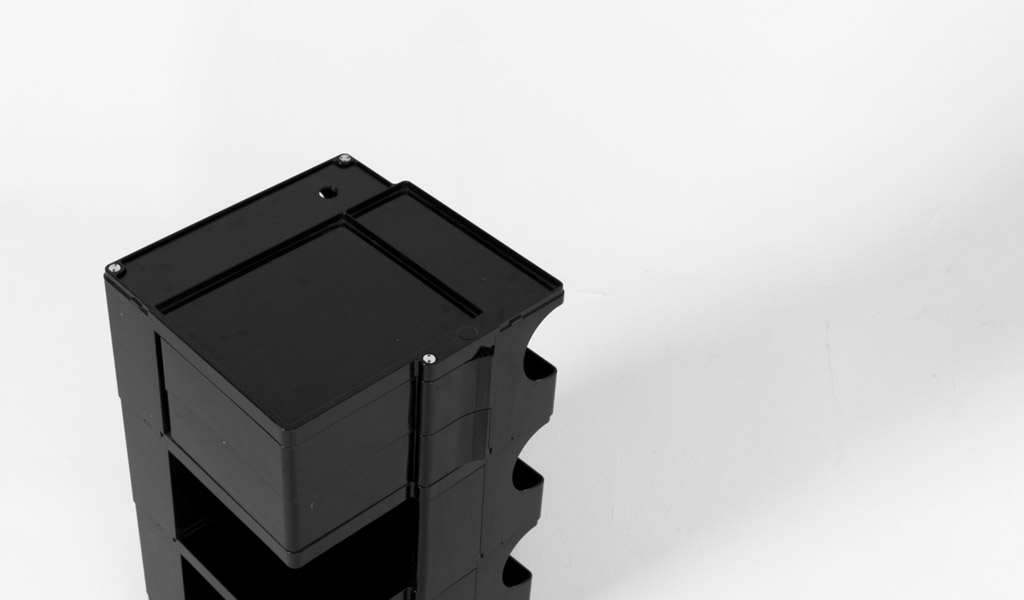 """17""""w x 16""""d Black Plastic Taboret MIS008503"""