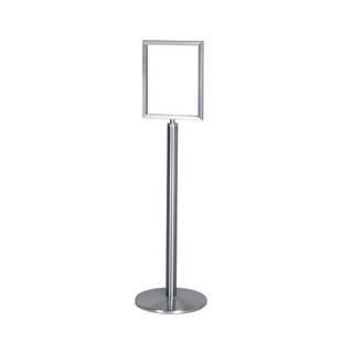 "14""h Brushed Aluminum Sign Stanchion MIS012911"
