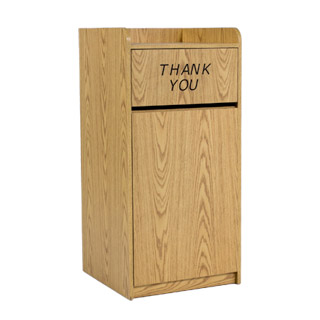 "46""h Light Oak Waste Receptacle MIS013009"