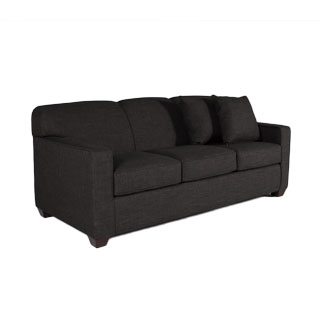 "79""w x 35""d Charcoal Grey Three-Seater Sofa SOF012551"
