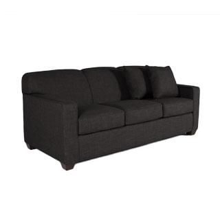 "79""w x 35""d Charcoal Grey Three-Seater Sofa SOF012551"