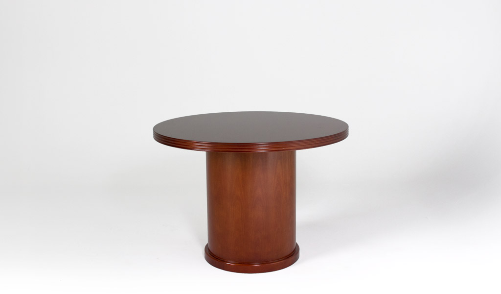 """42""""dia Cherry Round Conference Table TBL012847"""