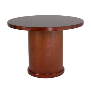 "42""dia Cherry Round Conference Table TBL012847"