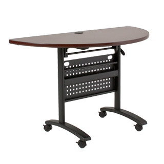 "23.75""w x 47.25""d Mahogany Training Table TBL012971"