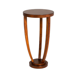 "14""dia Medium Cherry Round Side Table TBL013003"