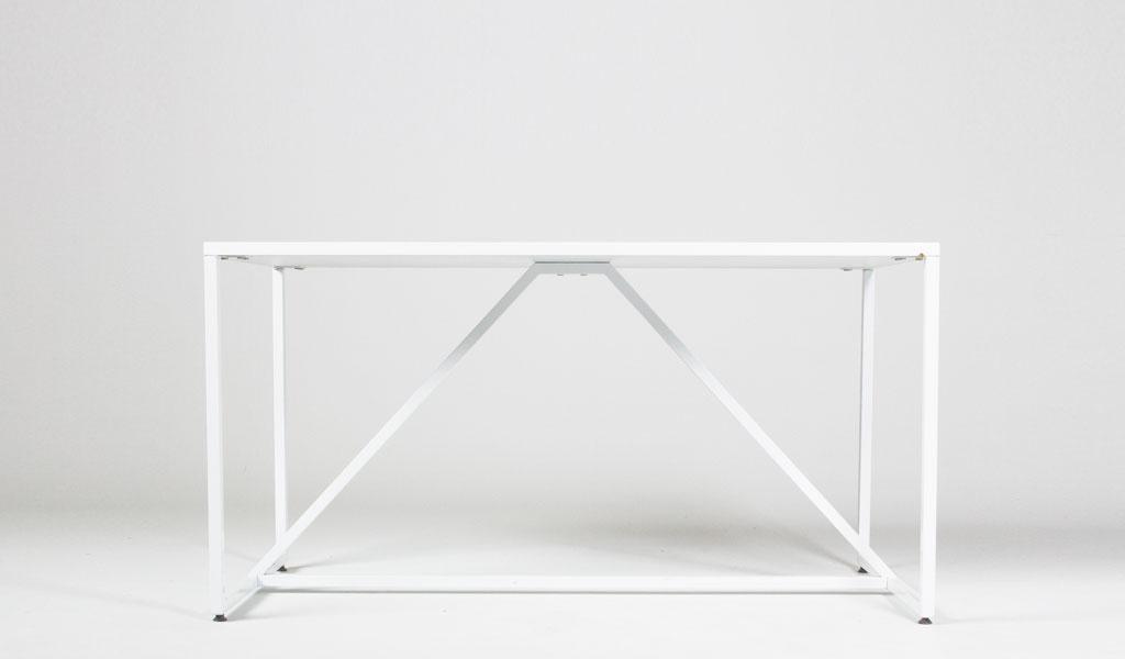 """56""""w x 28""""d White Metal Table TBL013017"""