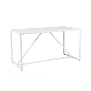 "56""w x 28""d White Metal Table TBL013017"