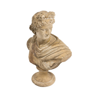 """14""""h Plaster Bust ACC000601"""