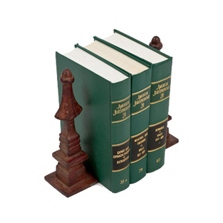 "10.25""h Brown Bookends ACC000818"