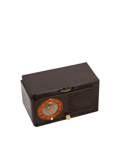 "10""w x 6""h Brown Radio Clock ACC001475"