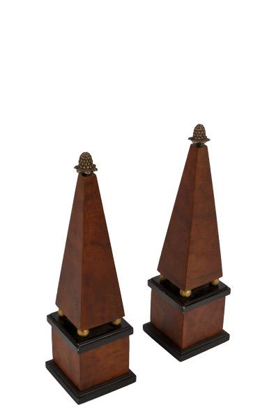 """17.5""""h Wooden Obelisk ACC007775"""