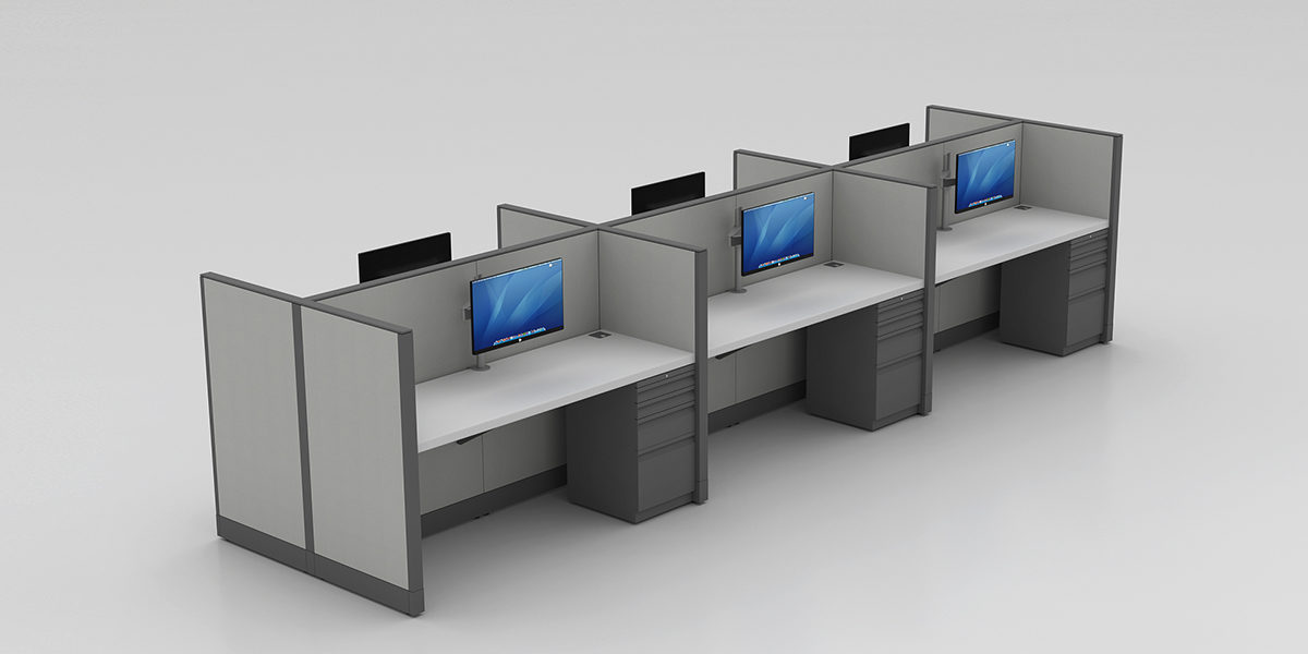 "42"" or 48""H Panel Workstation"