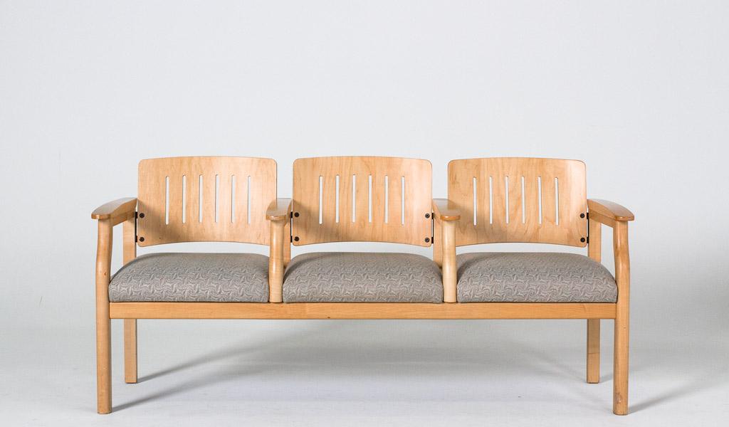 "68""w x 22""d Natural Wood Tandem Seating BEN000204"