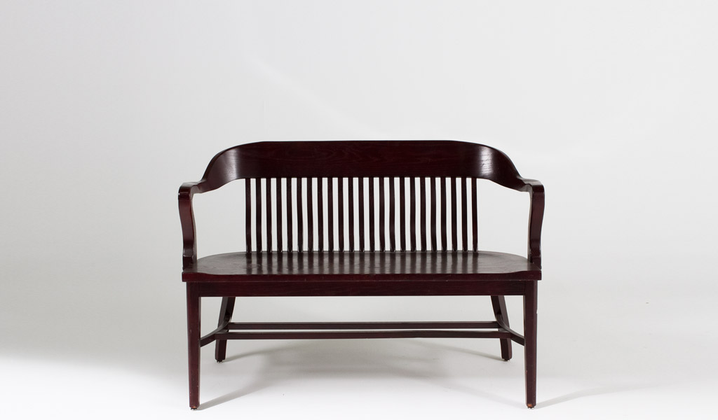 "48""w x 20""d Mahogany Courtroom Bench BEN000231"