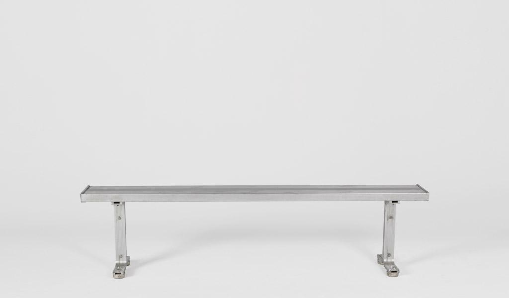 72''w x 10''d Aluminum Bench BEN004687