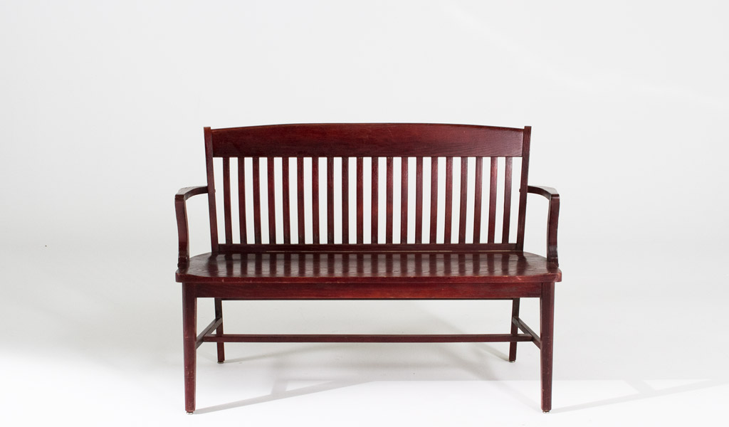 "48""w x 18""d Mahogany Courtroom Bench BEN007191"