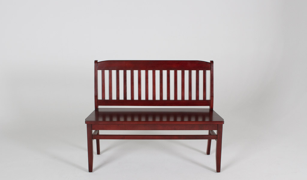"44""w x 16""d Mahogany Courtroom Bench BEN007249"