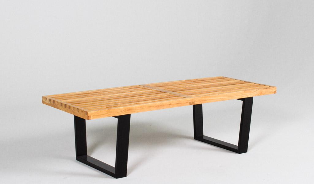 """48""""w x 18.5""""d Natural Wood Nelson Bench  BEN012184"""