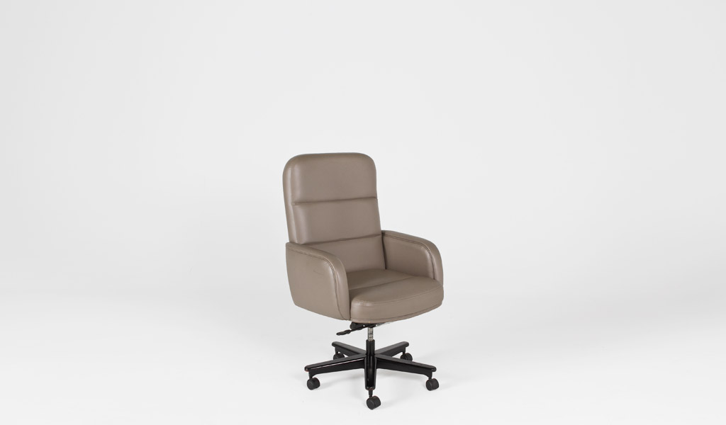 Taupe Leather Executive Office Chair CHR000702