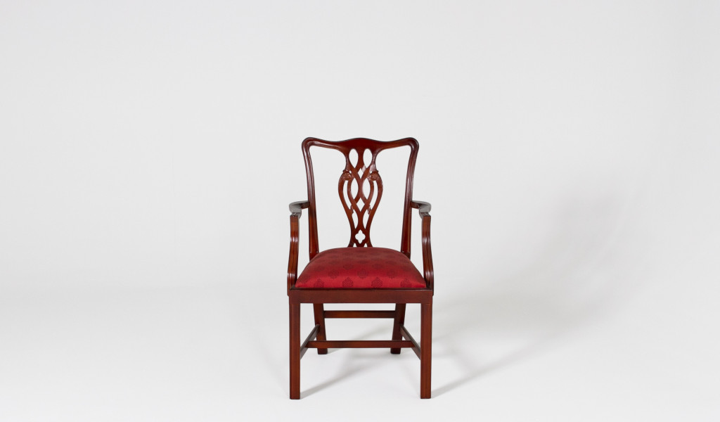 Mahogany Chippendale Guest Chair CHR000945