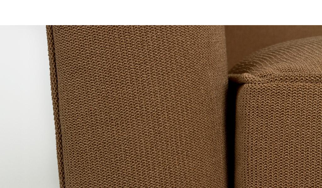 Sycamore Brown Fabric Club Chair + Ottoman CHR006426 + MIS006427