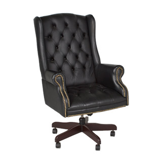 Black Leather Executive Wing Back Office Chair Chr006915