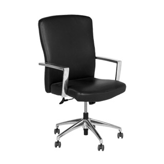 Black Leather High-Back Office Chair CHR009574