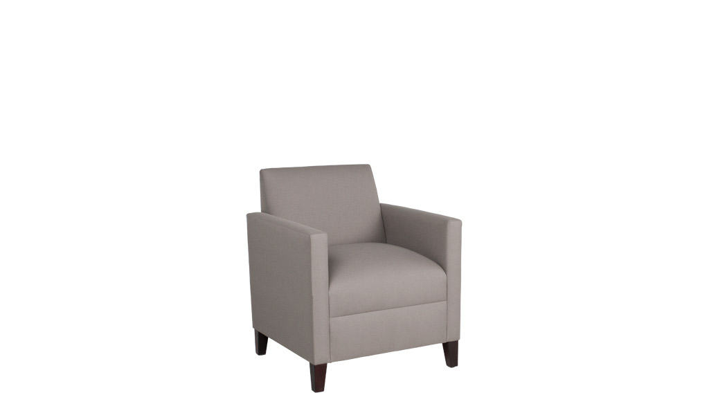 Beige Fabric Closed Arm Club Chair CHR012134