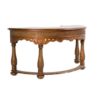 "60""w x 29""d Bronze French Baroque Desk DSK005918"