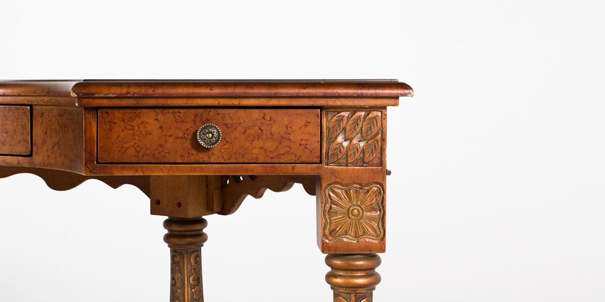"60""w x 29""d Bronze French Baroque Desk DSK005918"
