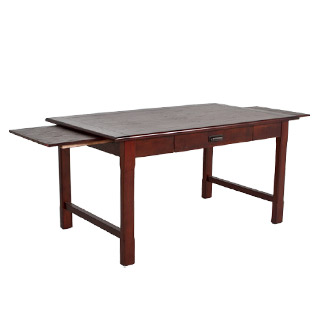 60''w x 34''d Walnut Extendable Table Desk DSK012176