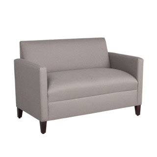 51''w x 27.5''d Grey Fabric Closed Arm Loveseat LVS012454