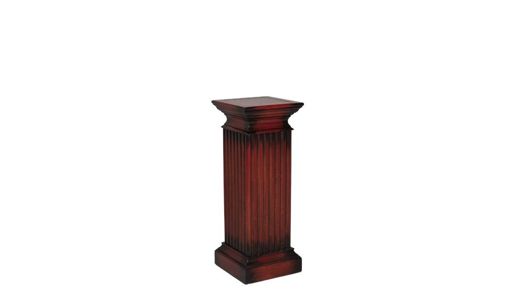 Standing Column Pedestal Walnut PED012771