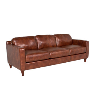"82""w x 35""d Nutmeg Brown Leather Sofa SOF011152"