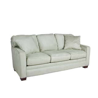 "77.5""w x 34.5""d Light Green Microfiber Sofa SOF011170"
